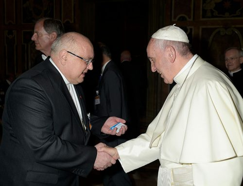 Fr. Andrzej Halemba Presents the Work of NRC to His Holiness Pope Francis