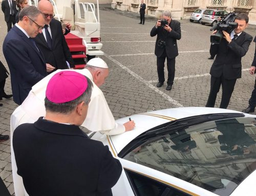 "Patriarch Sako on the donated Lamborghini: ""We thank Pope Francis for the fatherly gesture"""