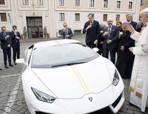 "ACN to ""convert"" the Lamborghini donated by the Pope into a nursery school and a centre"